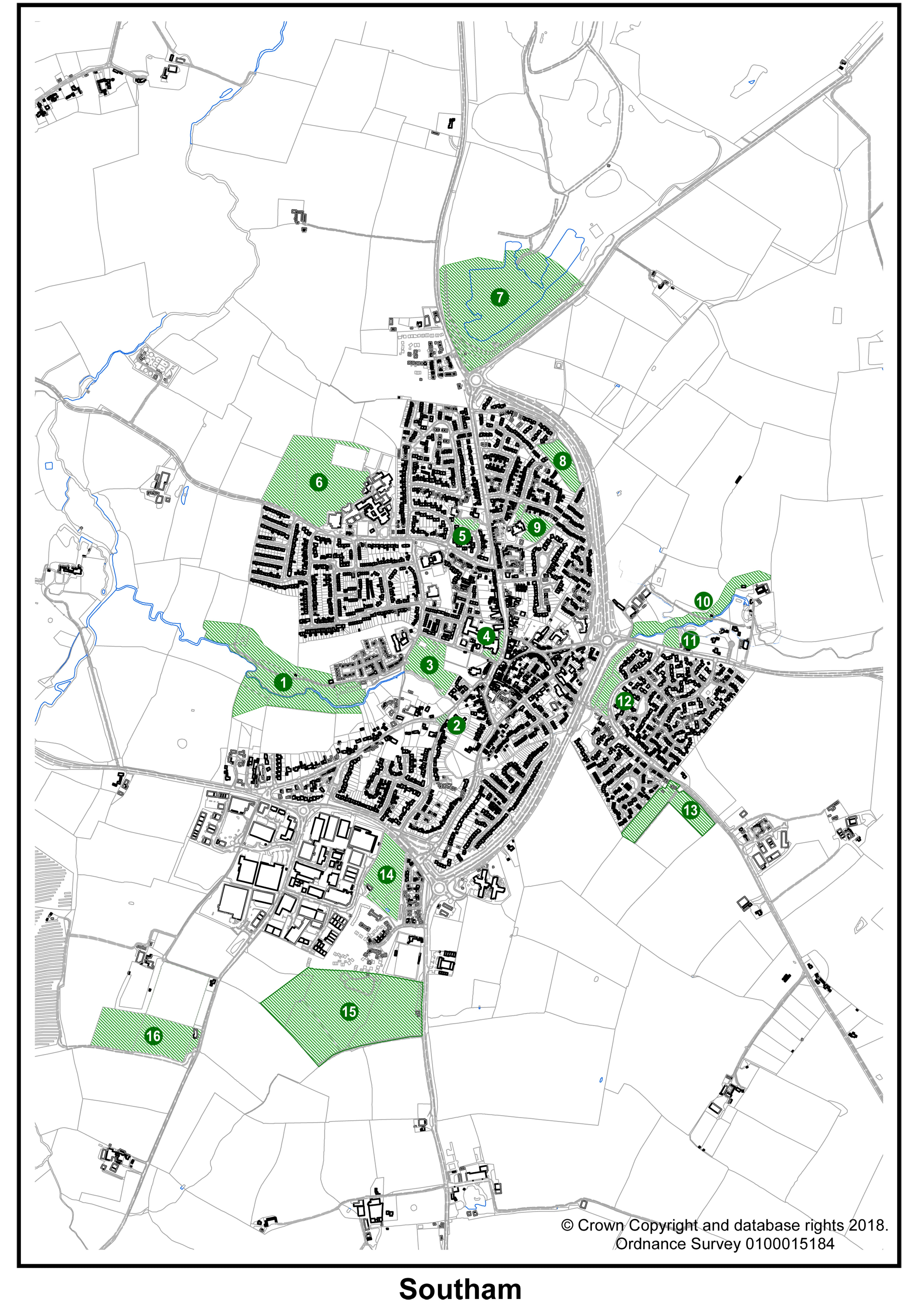 Local Green Spaces Map
